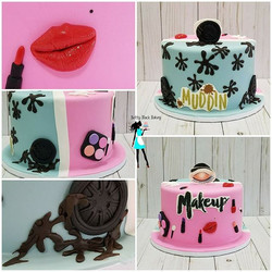Mud or Makeup gender Reveal Cake