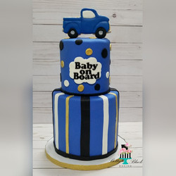 Baby on board Baby shower cake