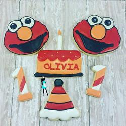 Elmo sugar cookies!