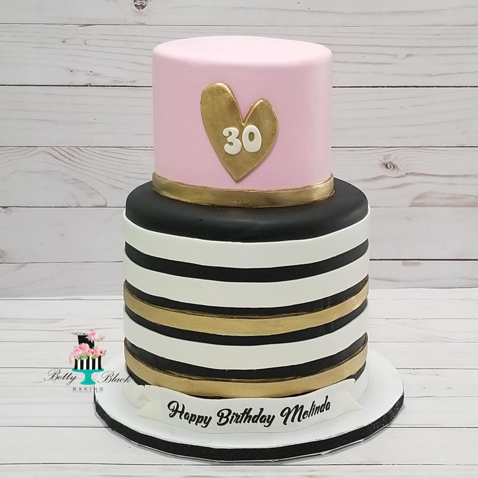 Chic 30th birthday Cake