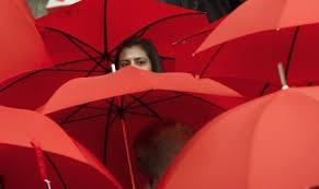 When it rains where it never rains