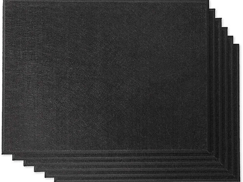"16"" x 12"" RHINO Acoustic Panels Matte Black Color (6 Pcs)"