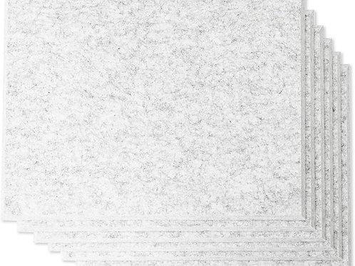 "16"" x 12"" RHINO Acoustic Panels Silver Gray Color (6 Pcs)"