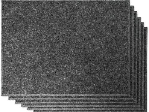 "16"" x 12"" RHINO Acoustic Panels Dark Gray Color (6 Pcs)"