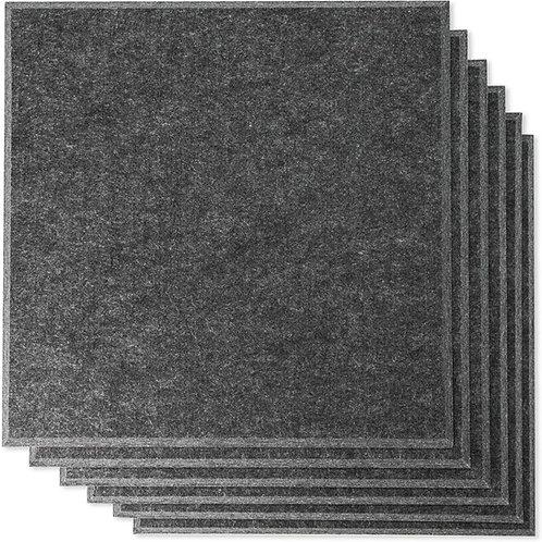 "12"" x 12"" RHINO Acoustic Panels Dark Gray Color (6 Pcs)"