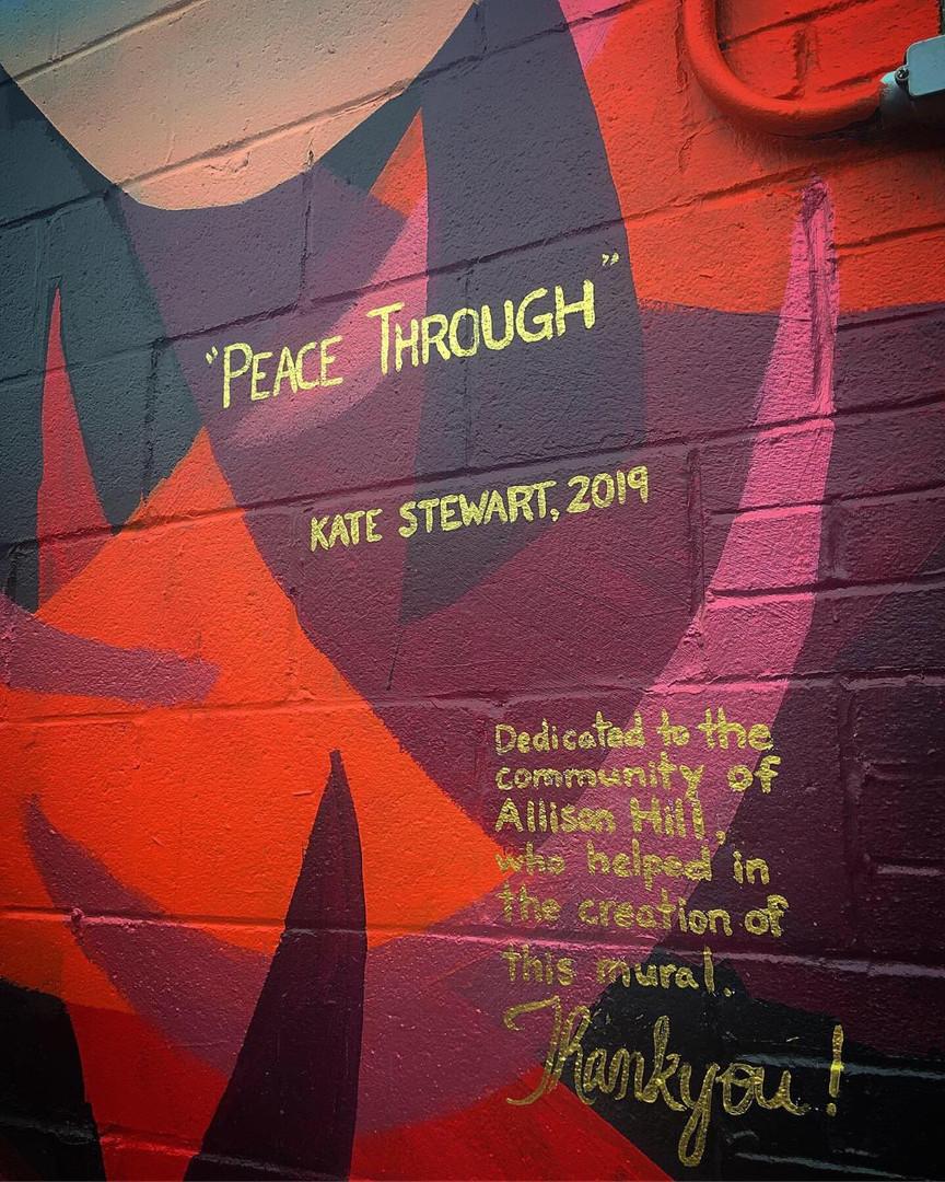 """Peace Through"", Allison Hill neighborhood in Harrisburg PA"