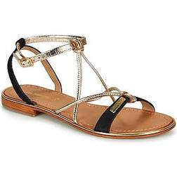 Sandales réf hironduc noir/or