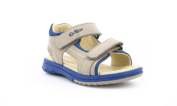 Sandales réf plazabi gris/bleu