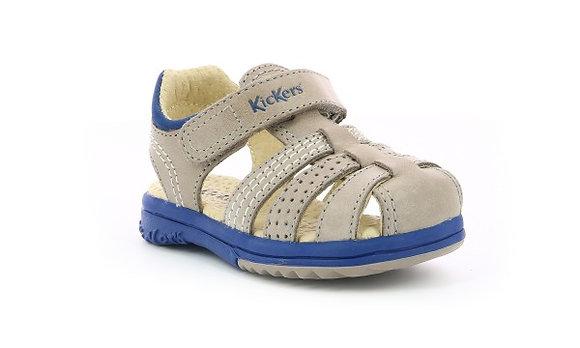 Sandales réf platiback gris/bleu