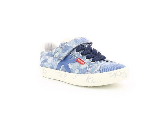 Sneakers basses réf bleu camouflage