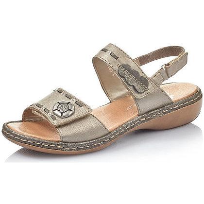 Sandales réf 65972 bronze métallic