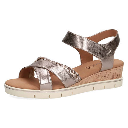 Sandales réf 28709 taupe metallic