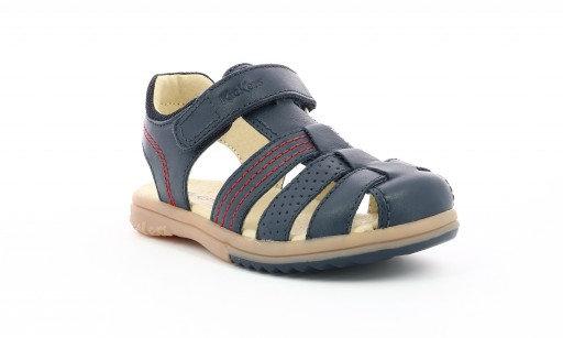 Sandales réf pepster marine/rouge