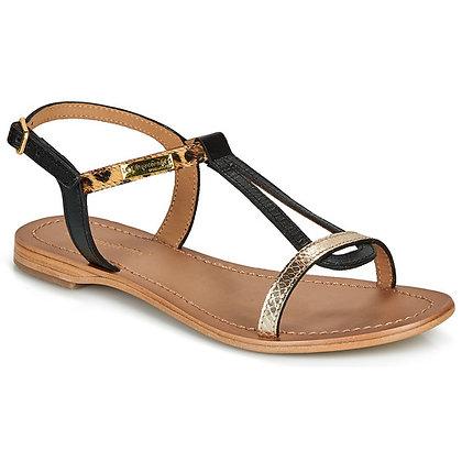 Sandales réf hamat noir/léopard