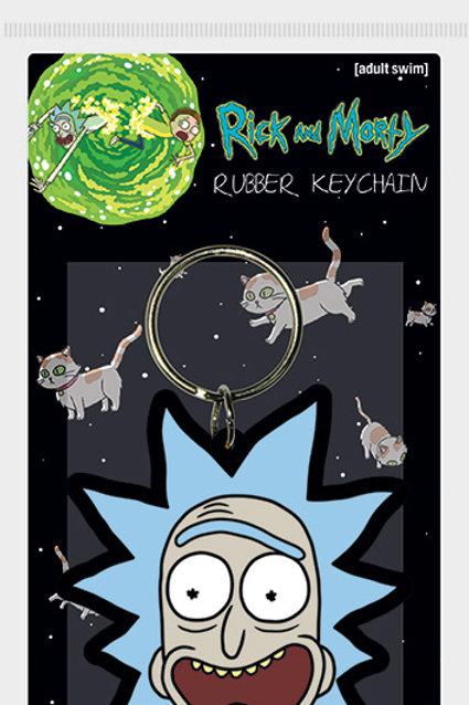 Лицензионный брелок Rick and Morty (Rick Crazy Smile)