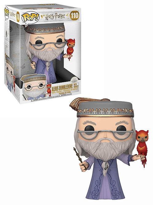 """Фигурка Funko POP! Vinyl: Harry Potter: 10"""" Dumbledore w/Fawkes"""