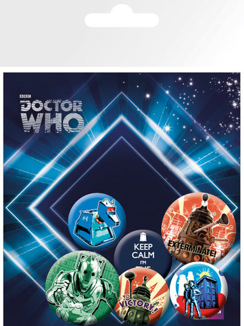 Набор лицензионных значков Doctor Who