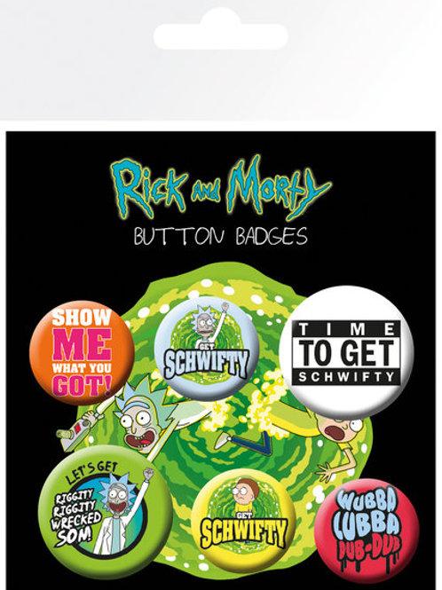 Набор лицензионных значков Rick and Morty
