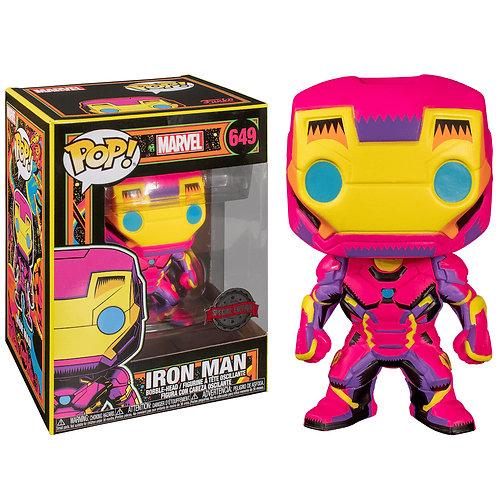 Фигурка Funko POP! Bobble: Marvel: Black Light: Iron Man (Exc)