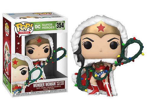 Фигурка Funko POP! Vinyl: DC: Holiday: Wonder Woman w/Lights Lasso