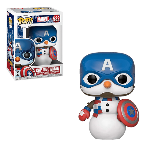 Фигурка Funko POP! Bobble: Marvel: Holiday: Captain America