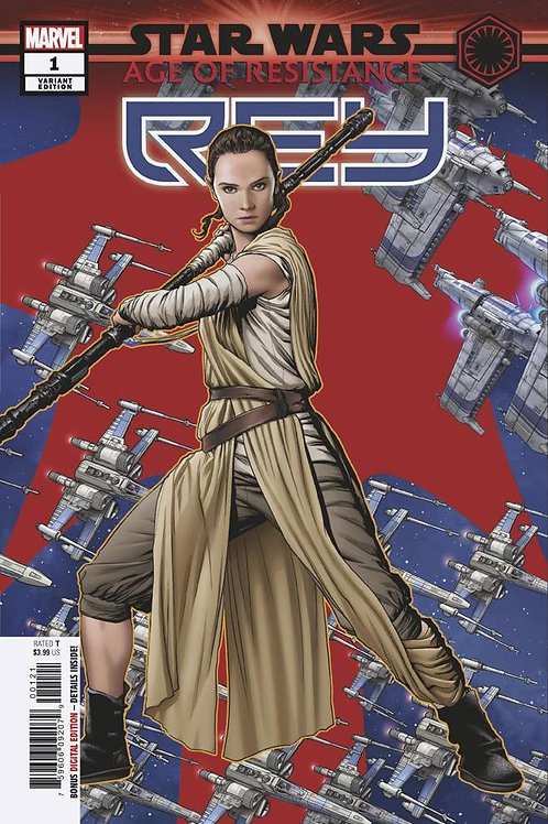 STAR WARS AOR REY #1 MCKONE PUZZLE PC VAR