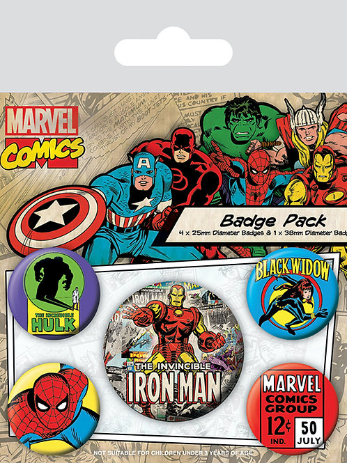 Набор лицензионных значков Marvel Comics (Iron Man)