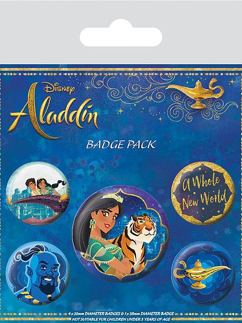 Набор лицензионных значков Aladdin Movie (A Whole New World)