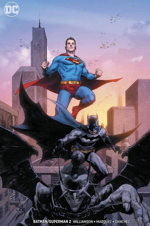 BATMAN SUPERMAN #2 CARD STOCK VAR ED