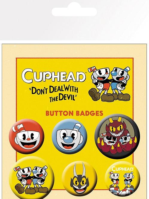 Набор лицензионных значков Cuphead