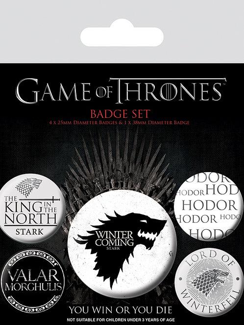 Набор лицензионных значков Game of Thrones (Winter is Coming)