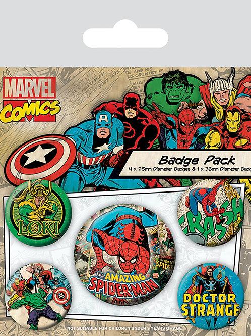 Набор лицензионных значков Marvel Comics (Spider-Man)