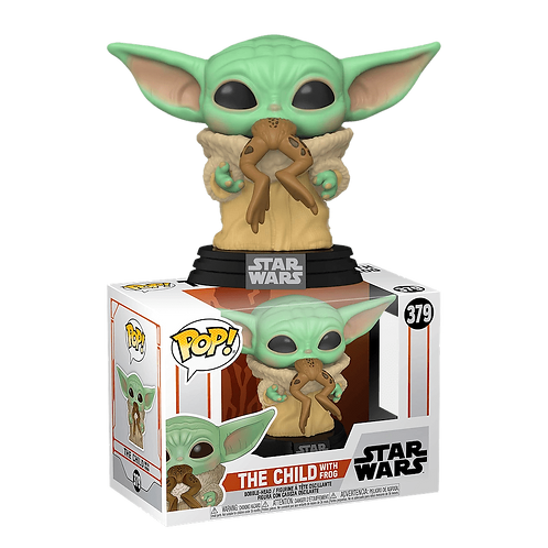 "Фигурка Funko POP!Bobble: Star Wars: Mandalorian:The Child w/Frog (""Малыш Йода"")"