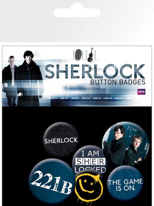 Набор лицензионных значков Sherlock