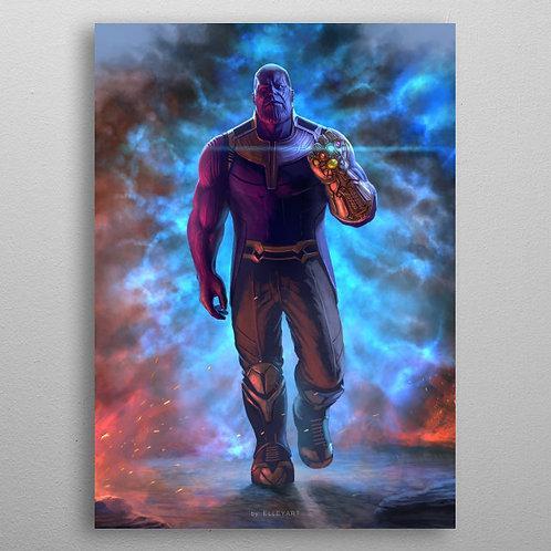 """Постер на металле """"Танос"""""""