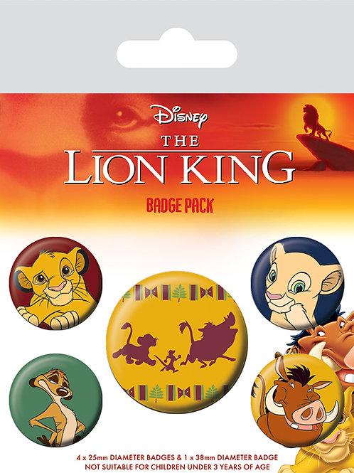 Набор лицензионных значков The Lion King (Hakuna Matata)