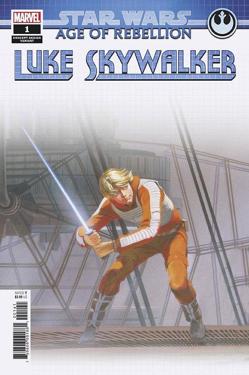 STAR WARS AOR LUKE SKYWALKER #1 CONCEPT VAR