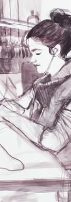 Champion studiomate, goauche on watercolor paper, 24 x 18 inches, 2016