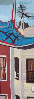 RIP Shoe Mania, oil on canvas, 18 x 24 inches, 2012