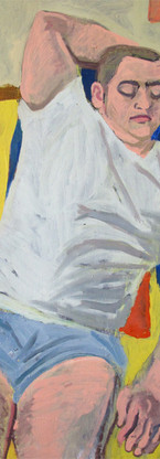 Primary Vic, oil on gessoed paper, 30 x 22 1/4 inches, 2012