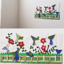 Applique - bird crochet wall decor