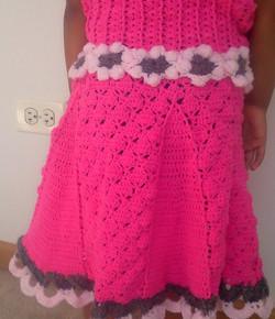 Crochet girl frock