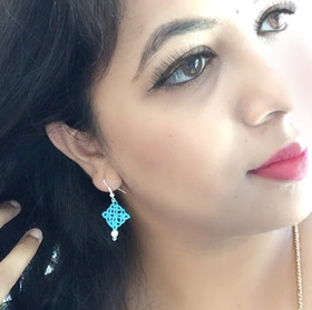 Tatting earrings 2