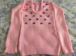 Intarsia knitted sweater 1