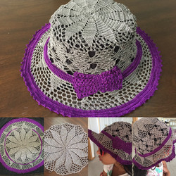 Crochet cap pattern - summer hat
