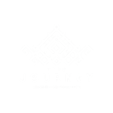 The Journey - Logo (White, Black BG).png