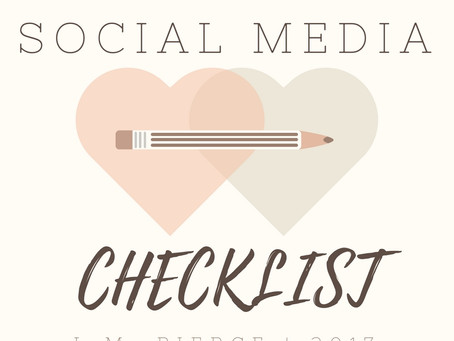 A FREE Writer's Social Media Checklist