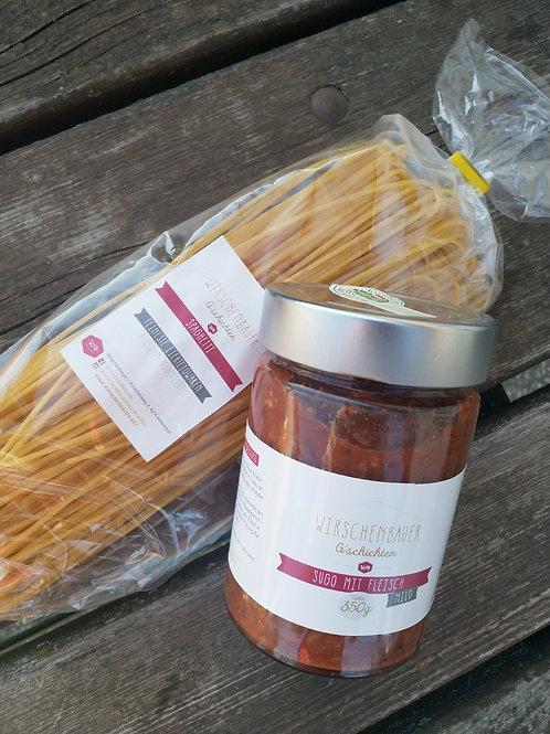Spaghetti mit Sugo mild 350g