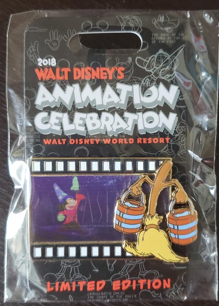 Walt Disney's Animation Celebration Fantasia Pin in package