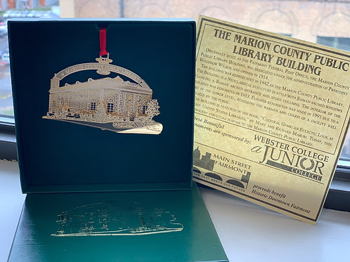 Fairmont Commemorative Ornament - The Marion County Public Library